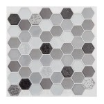 Lot de 2 planches stickers Hexa Noir
