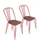 Lot de 2 chaises Orme Rouges