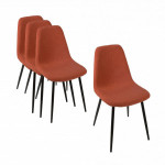 Lot de 4 chaise Tyka Orange terracotta