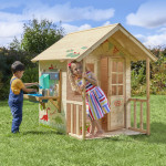Casita de madera y cocina infantil Dream - Natural
