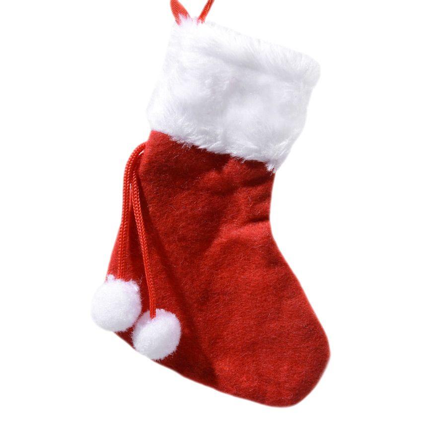 Mini chaussette de no l pompons chaussette et bonnet de no l eminza - Chaussettes de noel ...