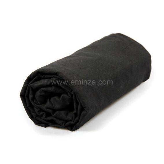 Drap housse 140 cm uni charbon drap housse eminza for Drap housse 140