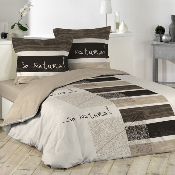 housse de couette et deux taies 240 cm so natural. Black Bedroom Furniture Sets. Home Design Ideas