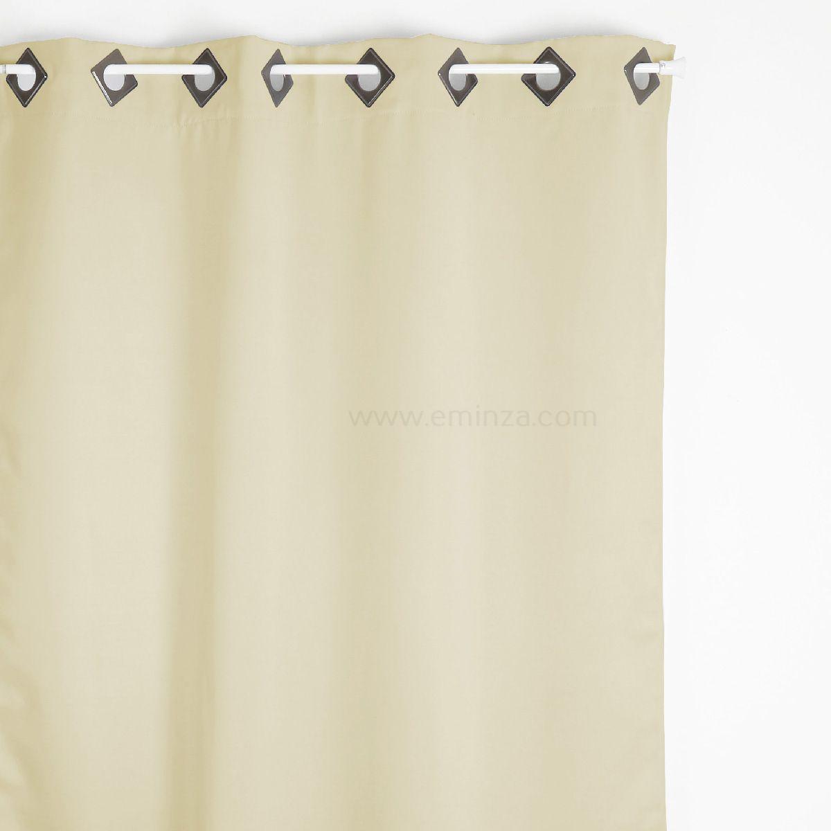 rideau occultant 140 x h260 cm cocoon ecru rideau occultant eminza. Black Bedroom Furniture Sets. Home Design Ideas