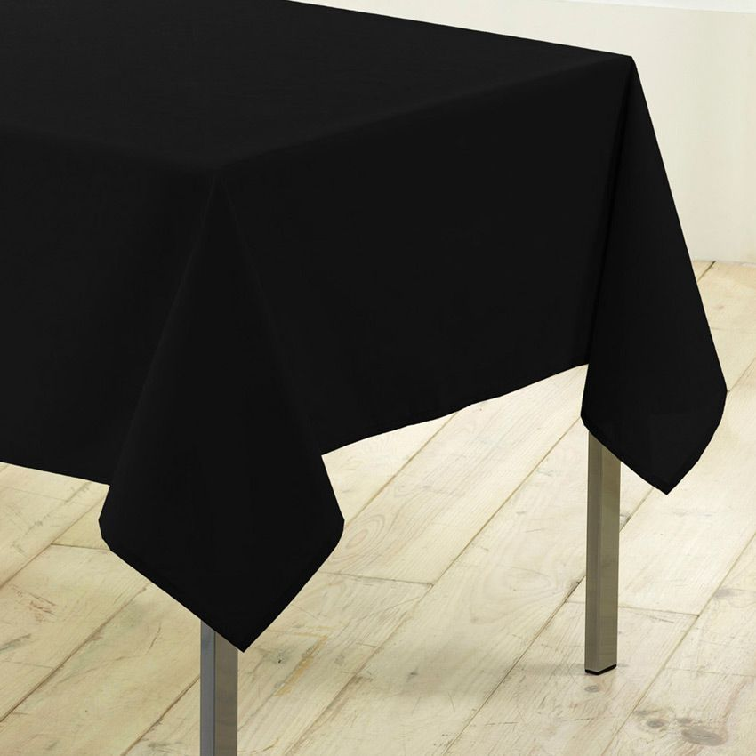 nappe rectangulaire l200 cm gamme essentiel noir nappe de table eminza. Black Bedroom Furniture Sets. Home Design Ideas