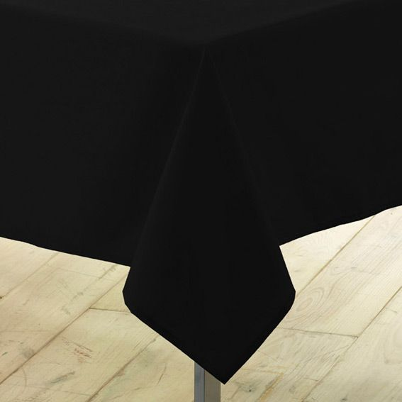 nappe rectangulaire l300 cm gamme essentiel noir nappe. Black Bedroom Furniture Sets. Home Design Ideas