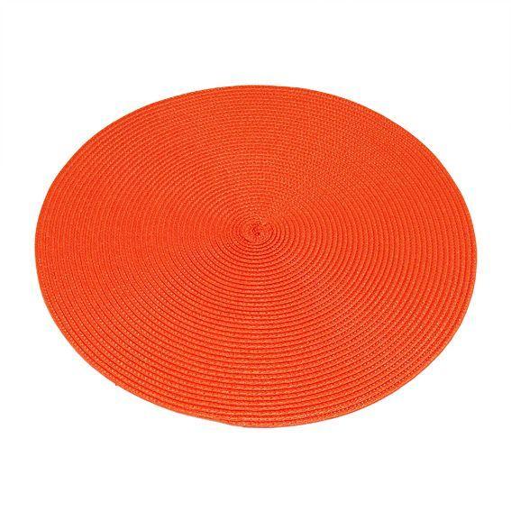 Set de table rond orange for Set de table rond