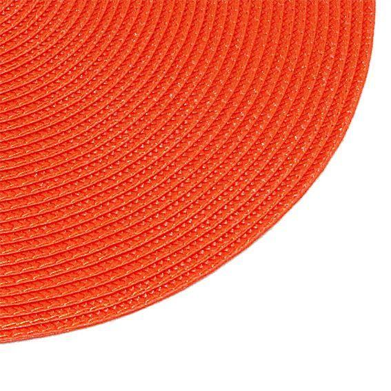 Set de table rond orange for Set de table paille