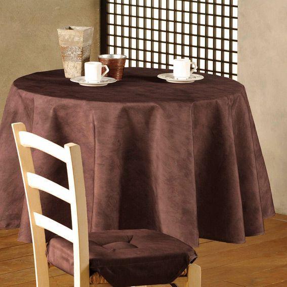 nappe ronde chocolat table de cuisine. Black Bedroom Furniture Sets. Home Design Ideas