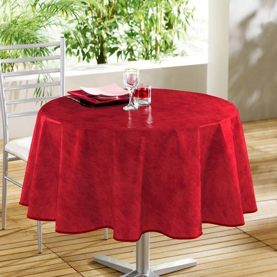 nappe cir e ronde d160 cm b ton cir rouge linge de table eminza. Black Bedroom Furniture Sets. Home Design Ideas