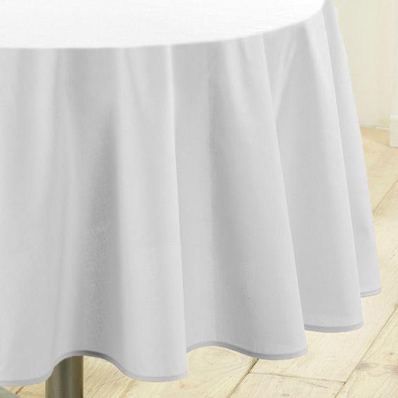 Nappe Ronde D180 Cm Gamme Essentiel Blanc Nappe De Table Eminza