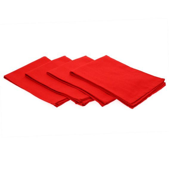 lot de 4 serviettes uni rouge serviette de table eminza. Black Bedroom Furniture Sets. Home Design Ideas