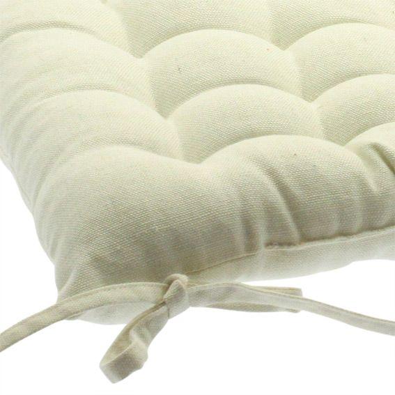 coussin de chaise sylla ecru eminza. Black Bedroom Furniture Sets. Home Design Ideas