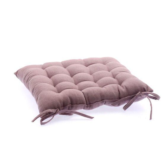 Coussin de chaise carr tapissier mauve galette et - Coussin galette chaise ...