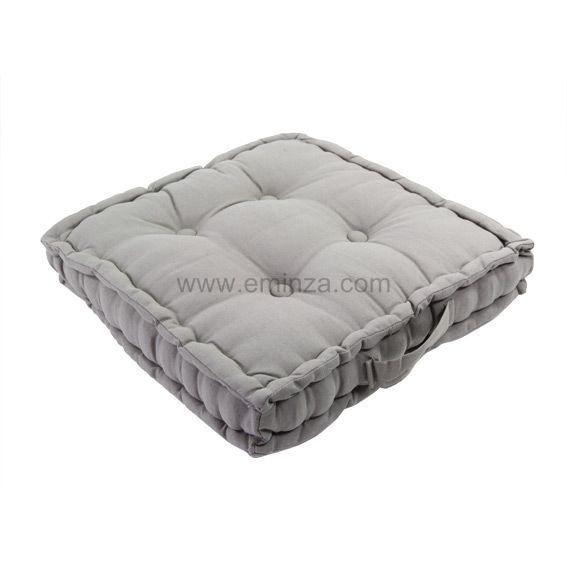 coussin de sol 40 cm lina gris coussin de sol et pouf. Black Bedroom Furniture Sets. Home Design Ideas