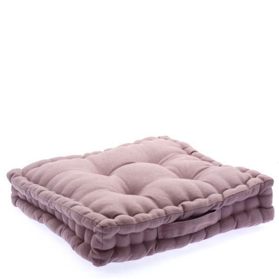 coussin de sol 40 cm mauve coussin de sol et pouf eminza. Black Bedroom Furniture Sets. Home Design Ideas