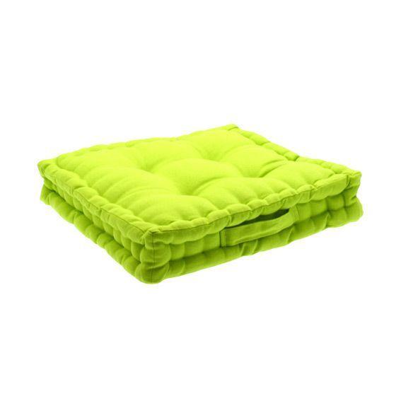 coussin de sol 40 cm vert pomme coussin de sol et pouf. Black Bedroom Furniture Sets. Home Design Ideas