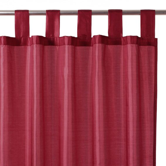 rideau 140 x h240 cm satin bordeaux rideau tamisant eminza. Black Bedroom Furniture Sets. Home Design Ideas