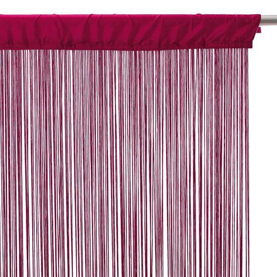 rideau de fil 90 x h200 cm uni framboise rideau et voilage eminza. Black Bedroom Furniture Sets. Home Design Ideas