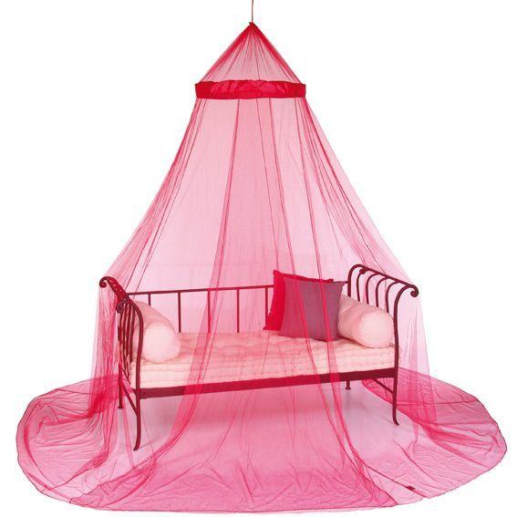 ciel de lit moustiquaire framboise ciel de lit eminza. Black Bedroom Furniture Sets. Home Design Ideas