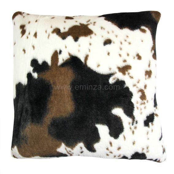Coussin imitation fourrure d houssable vache coussin et housse de coussin - Housse de coussin pas cher ...