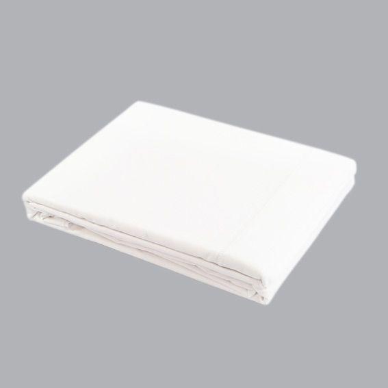 drap plat 240 cm uni blanc drap plat eminza. Black Bedroom Furniture Sets. Home Design Ideas