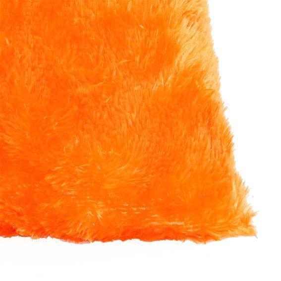 coussin fausse fourrure 40 cm peluche orange coussin. Black Bedroom Furniture Sets. Home Design Ideas