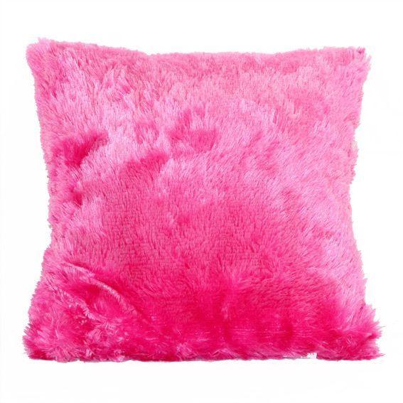 coussin douceur peluche rose fuchsia coussin et housse de coussin eminza. Black Bedroom Furniture Sets. Home Design Ideas