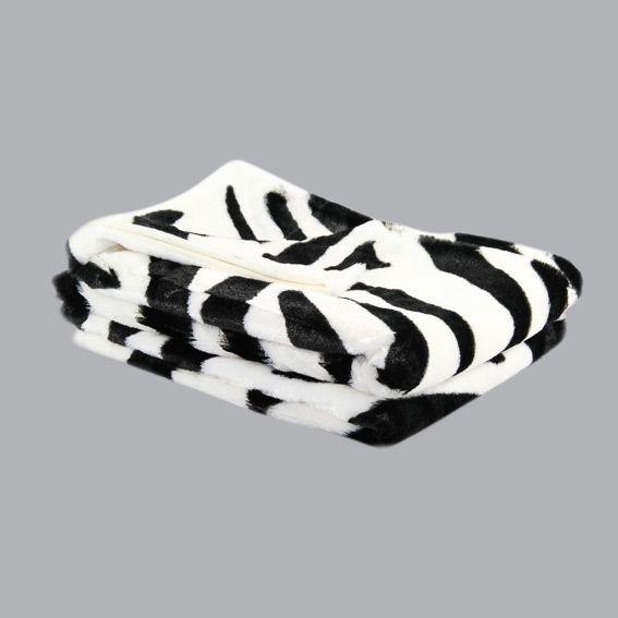 plaid imitation fourrure zebra plaid fausse fourrure eminza. Black Bedroom Furniture Sets. Home Design Ideas