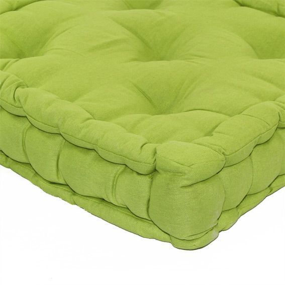 coussin de sol 50 cm etna vert anis coussin de sol et. Black Bedroom Furniture Sets. Home Design Ideas