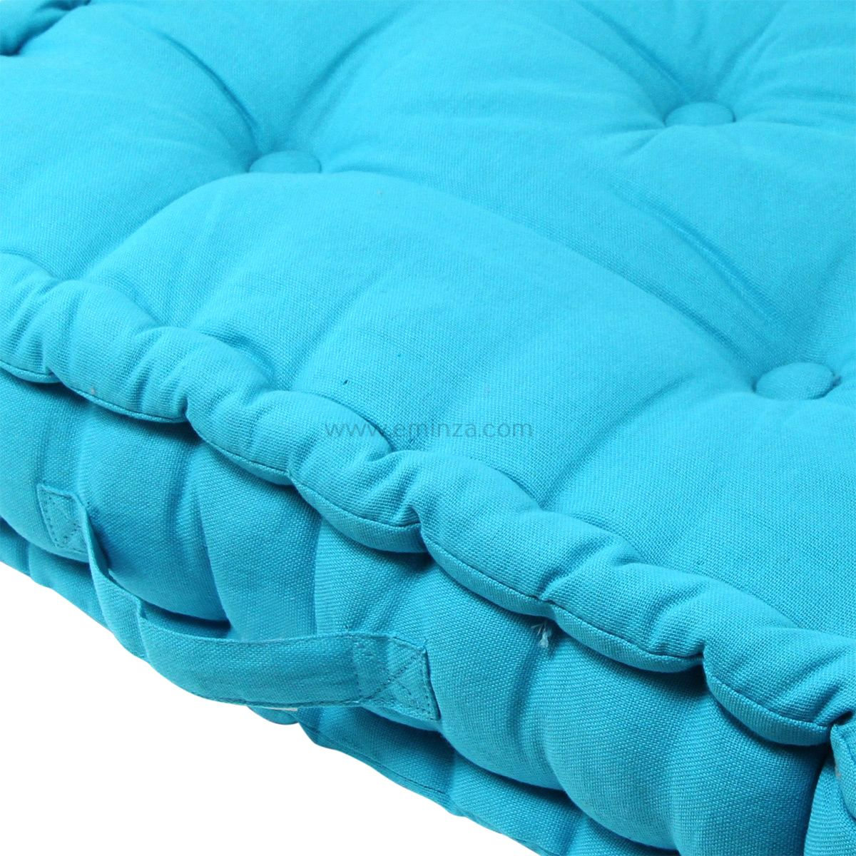 coussin de sol 50 cm etna turquoise coussin de sol et. Black Bedroom Furniture Sets. Home Design Ideas