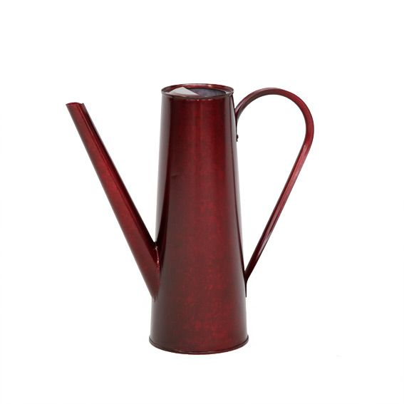 cache pot areo en acier galvanis rouge decoration. Black Bedroom Furniture Sets. Home Design Ideas