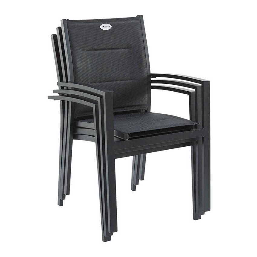 Fauteuil de jardin Azua - Noir - Chaise et fauteuil de jardin - Eminza
