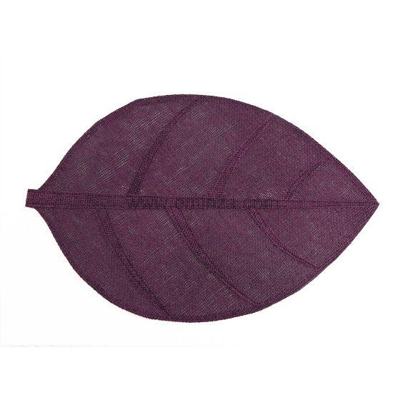 Set de table feuille prune set de table eminza for Set de table tissu