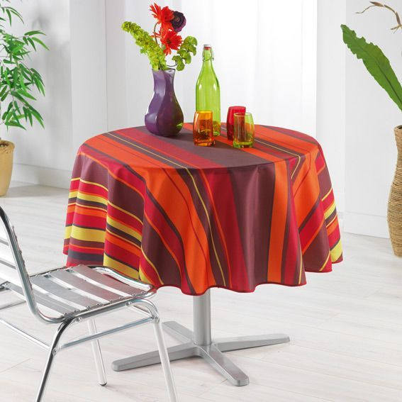 nappe ronde d180 cm bayad re orange nappe de table eminza. Black Bedroom Furniture Sets. Home Design Ideas