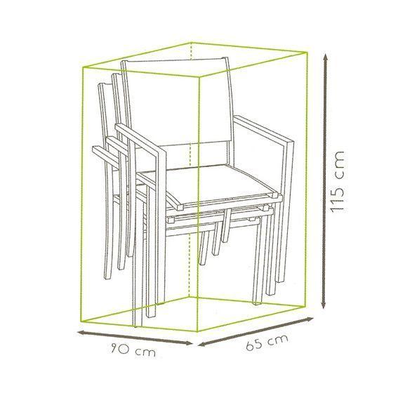 Housse pile de chaises l90 cm housse de protection for Housse de chaise largeur 50 cm