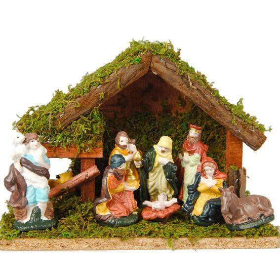 Cr che de no l compl te saint jean cr che avec santons for Decoration fenetre creche