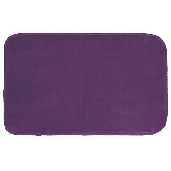 Tapis velours uni l80 cm prune tapis de chambre salon Tapis salon prune
