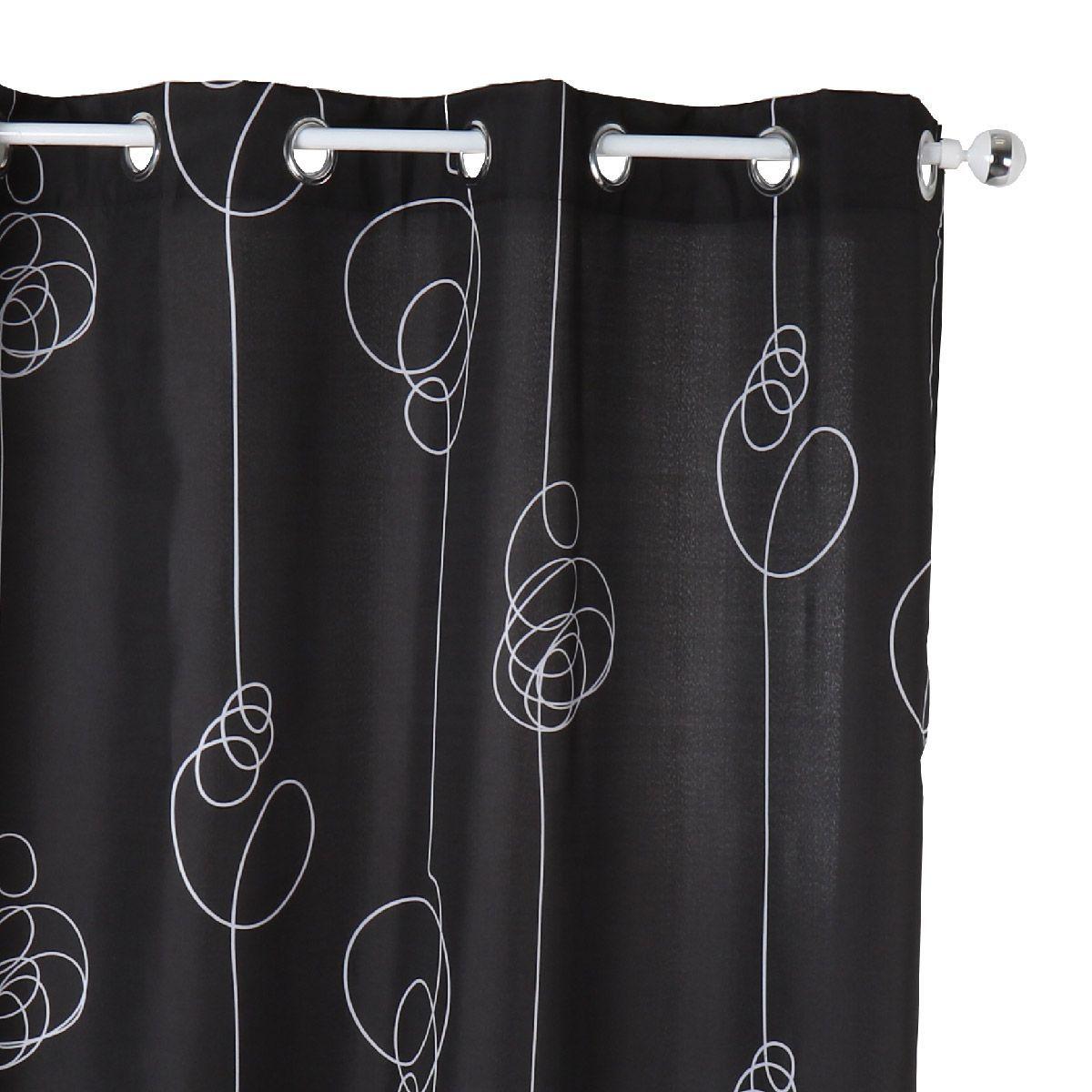 rideaux noir rideau oeillets jacquard spirale noir with rideaux noir rideau oeillets occultant. Black Bedroom Furniture Sets. Home Design Ideas