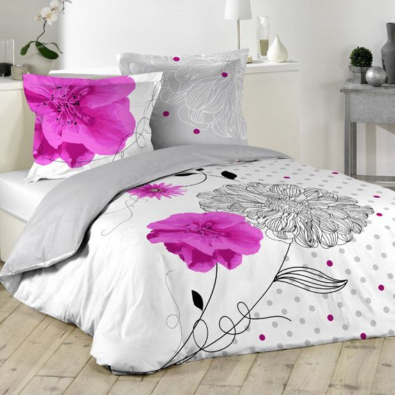housse de couette et deux taies 240 cm flora housse de couette eminza. Black Bedroom Furniture Sets. Home Design Ideas