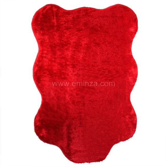 tapis peau de b te peluche rouge tapis pour la maison. Black Bedroom Furniture Sets. Home Design Ideas