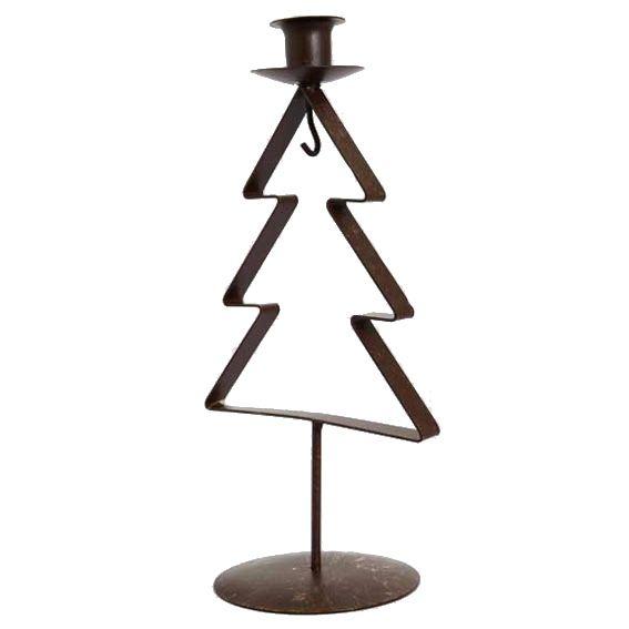 bougeoir sapin styl bronze illumination pour la table eminza. Black Bedroom Furniture Sets. Home Design Ideas