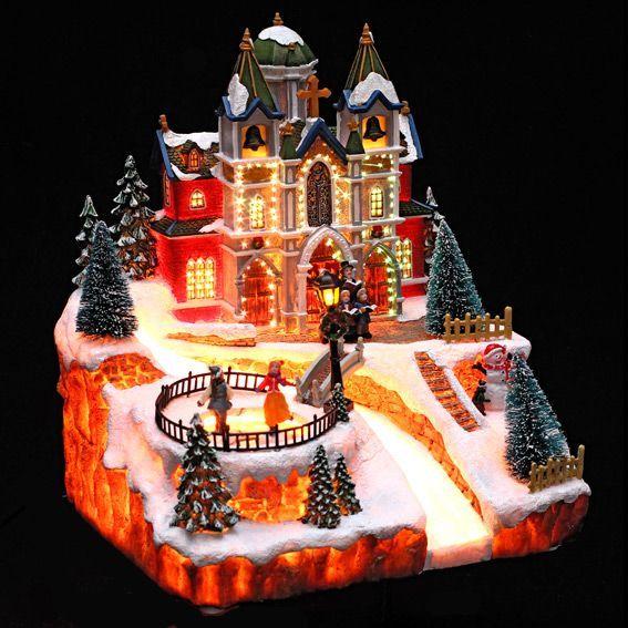 Idee Deco noel lumineux : Village de Noël lumineux Patinoire - Village de Noël lumineux - Eminza