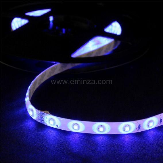 bande lumineuse flexible led bleu 3 m decoration lumineuse eminza. Black Bedroom Furniture Sets. Home Design Ideas