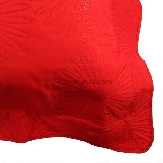 Housse de coussin boutis neptune rouge coussin et housse for Housse coussin rouge