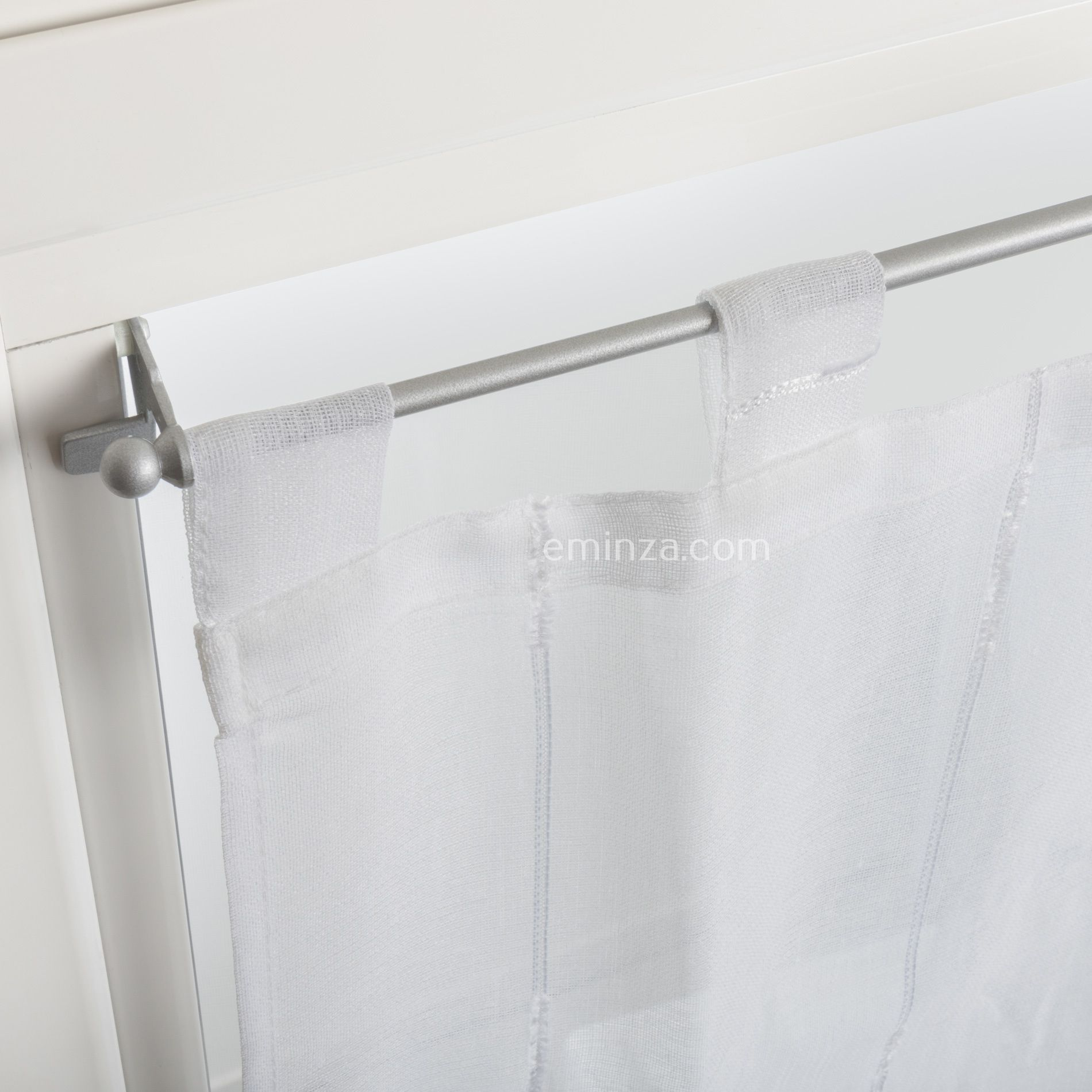 tringle fix 39 vit l80 cm argent tringle vitrage eminza. Black Bedroom Furniture Sets. Home Design Ideas