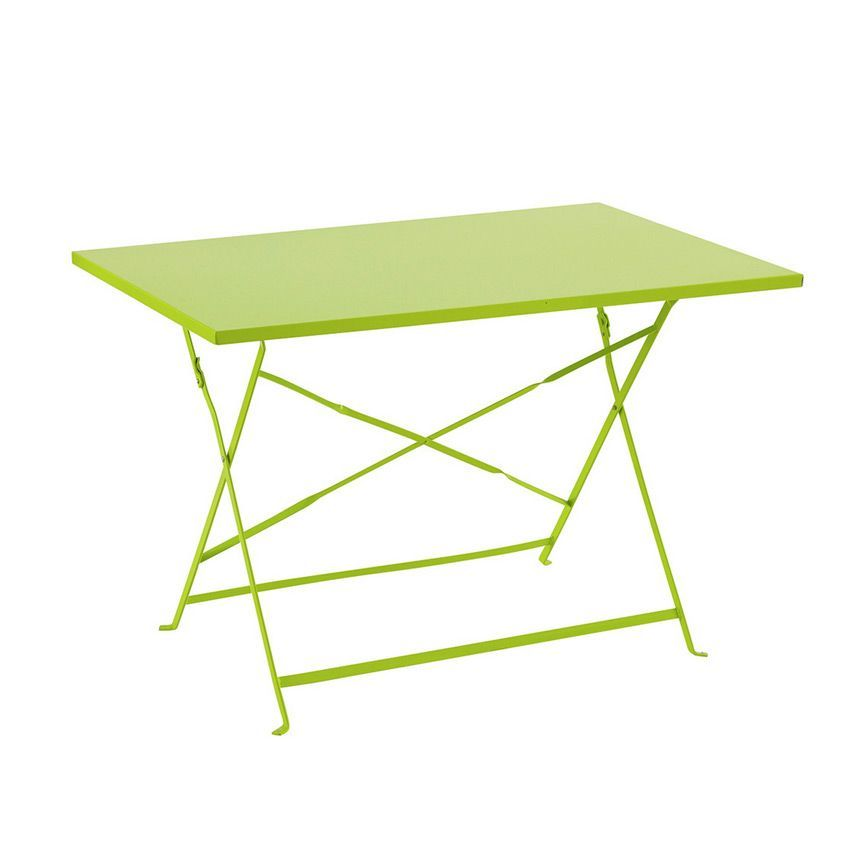 Table de jardin pliante m tal camargue 110 x 70 cm for Table cuisine 70 x 110