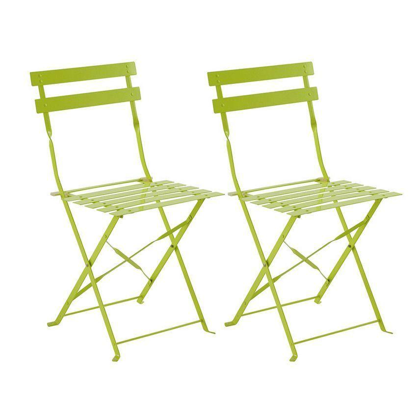 lot de 2 chaises de jardin pliantes camargue granny chaise et fauteuil de jardin eminza. Black Bedroom Furniture Sets. Home Design Ideas