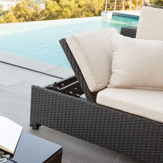 banquette d tente catalana noir 4 places salon de jardin d tente eminza. Black Bedroom Furniture Sets. Home Design Ideas