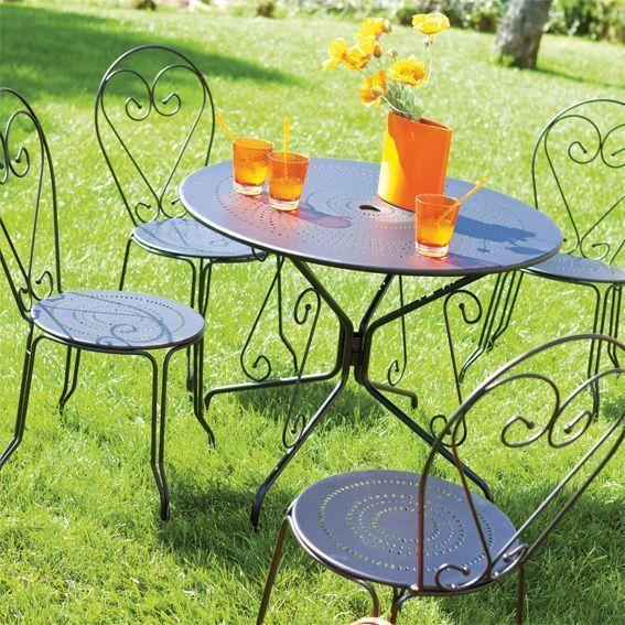 ensemble repas cabrera noir 5 pi ces salon de jardin repas et bar eminza. Black Bedroom Furniture Sets. Home Design Ideas